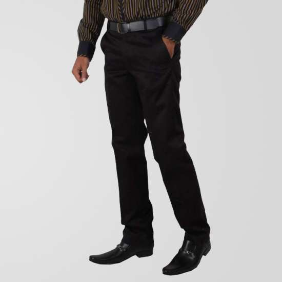 Black Eminent Winkle Free Formal Pant
