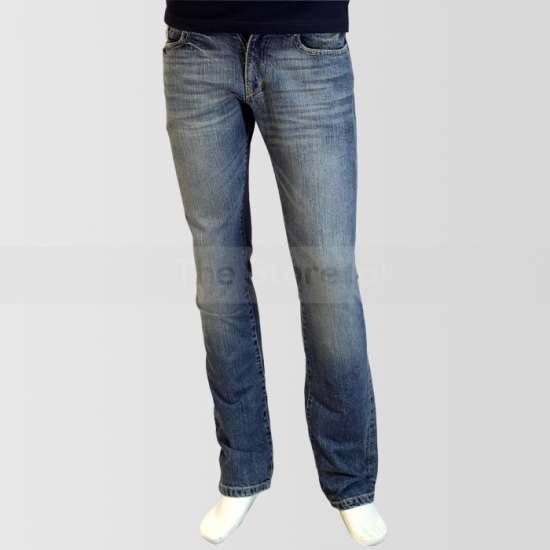 Blue Regular Fit Shaded Jeans