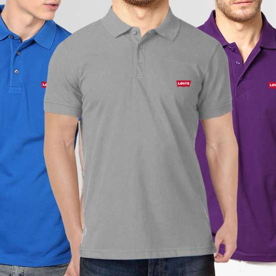 Bundle Of 3 Levi's Polo T-Shirt (Available In 12 Colors)