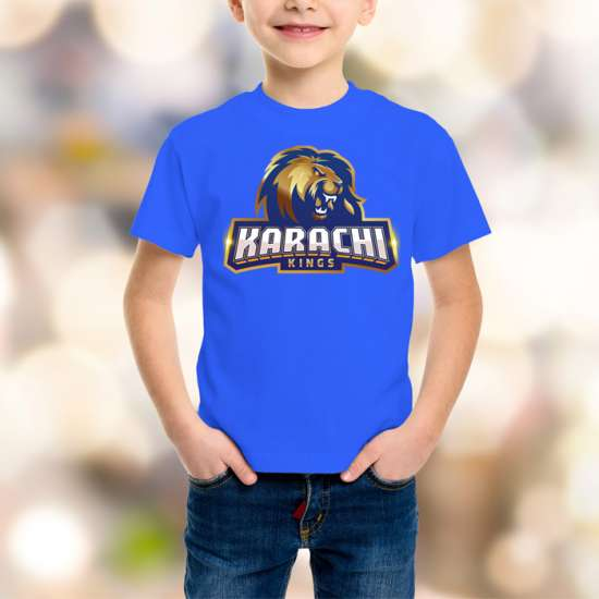 Karachi King Kids Blue T-Shirt
