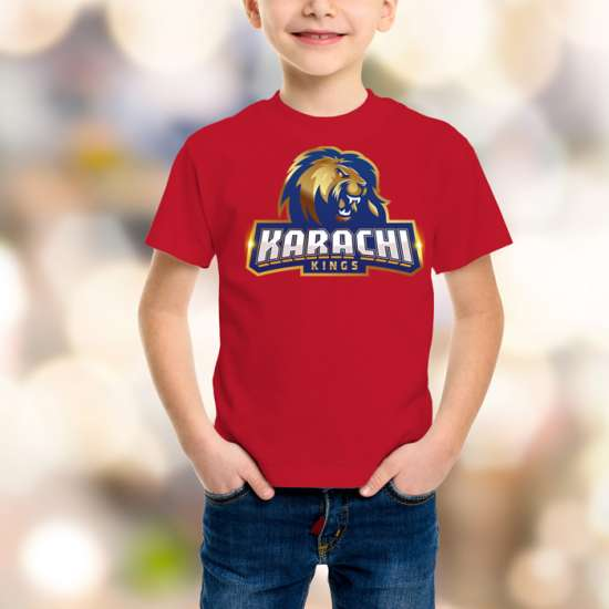 Karachi King Kids Red T-Shirt