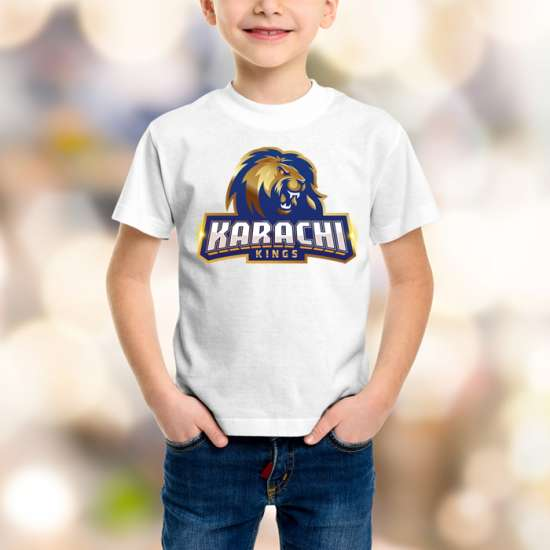 Karachi King Kids White T-Shirt
