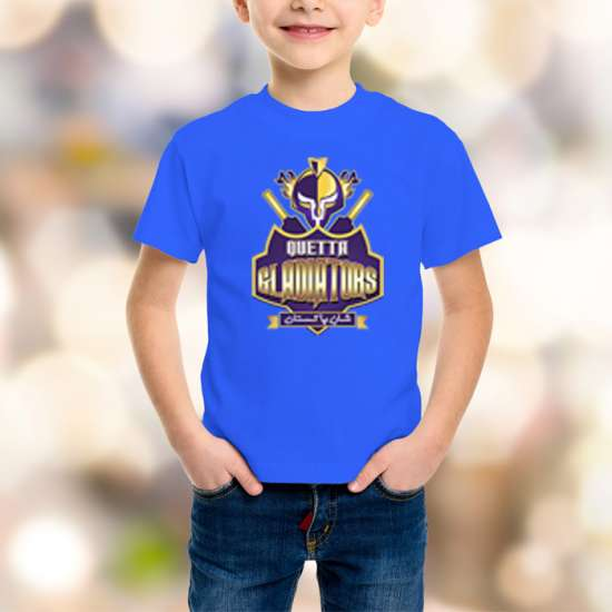 Quetta Gladiators Kids Blue T-Shirt