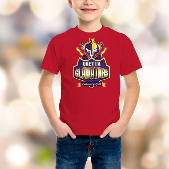 Quetta Gladiators Kids Red T-Shirt
