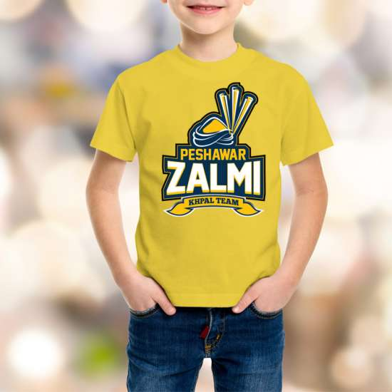 Peshawar Zalmi Kids Yellow T-Shirt