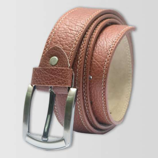 Brown Pattern  Original Cow Leather Men's Belt