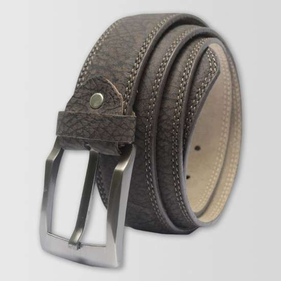 Gray Brown Original Cow Leather Men's Belt