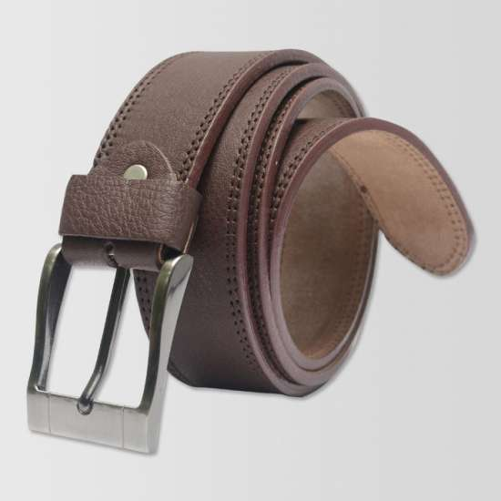 Brown Original Cow Leather Men's Belt