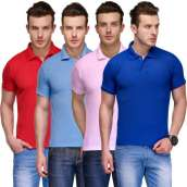 Bundle of 4 Plain Polo High Quality T-Shirts (11 Colors)