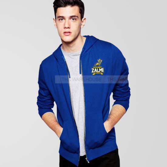 Peshawar Zalmi Psl Royal Blue Zipper Hoodie