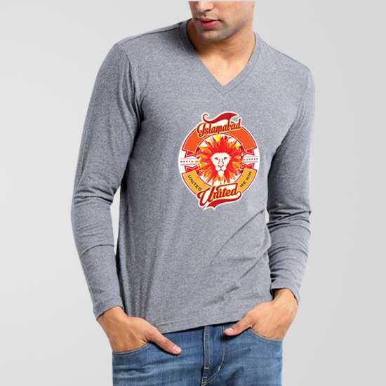 Islamabad United PSL V-Neck Full Sleeves T-Shirt