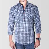 Green & White Checkered Casual Shirt