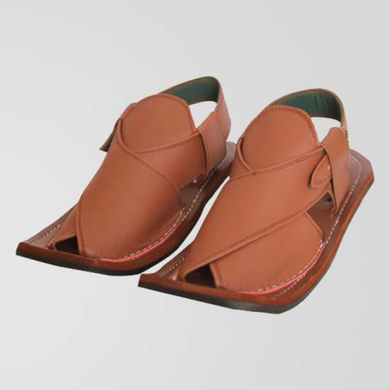 Brown Peshawari Leather Sandals