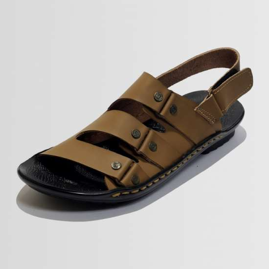 Camel Synthetic Leather Sandal