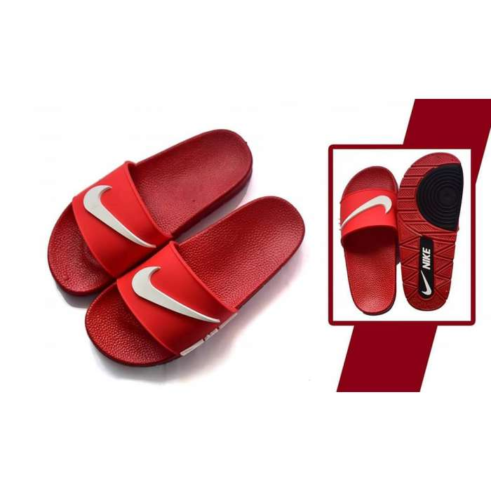Red Nike Casual Slippers - Thestore.pk