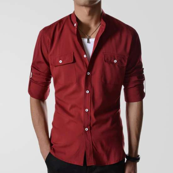 Maroon Casual Shirt