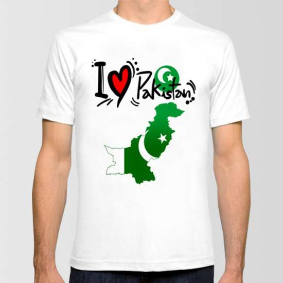 I LOVE PAKISTAN PRINTED T-SHIRT