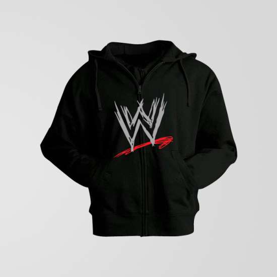 Black Hoodie With WWE Logo