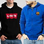 Bundle of 2 Hoodies: Black Levis + Blue Barcelona