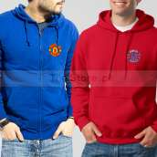 Soccer Hoodies Bundle of Two : Blue Manchester United + Red Chelsea