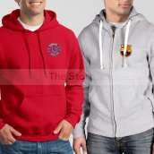 Soccer Hoodies Bundle of Two : Red Chelsea Hoodie City + Grey Barcelona