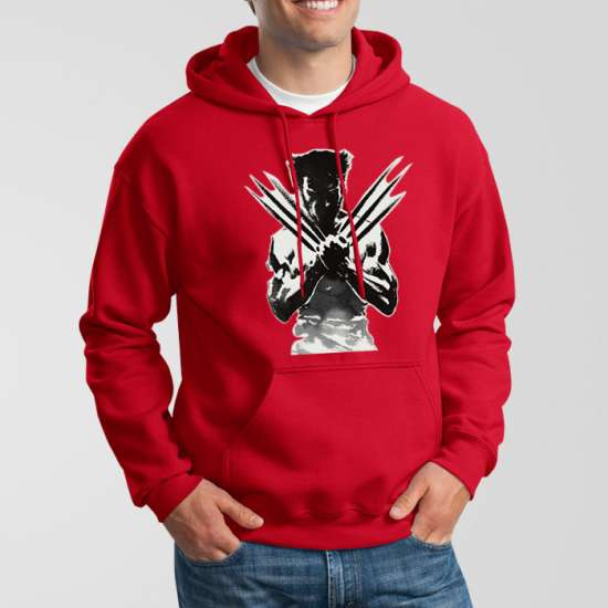 Red Fleece X-Men Hoodie