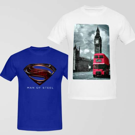 Bundle of 2 Graphic T-Shirt CA-14