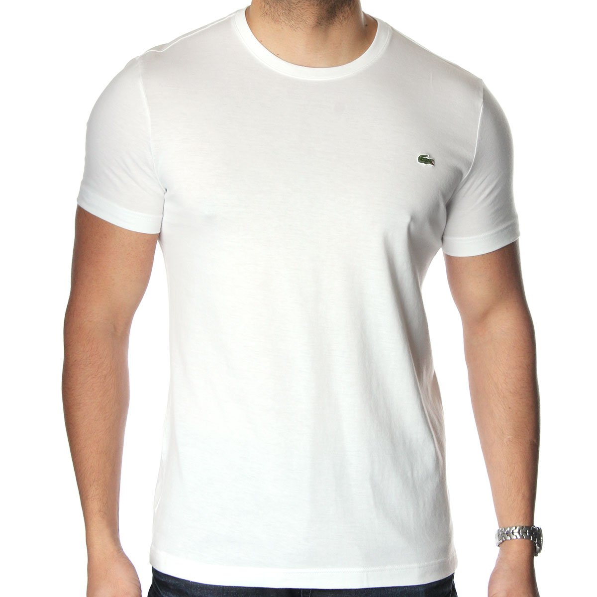 white round neck lacoste t shirt. Black Bedroom Furniture Sets. Home Design Ideas