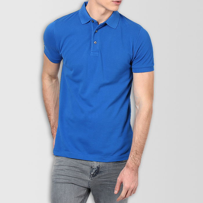 590c8c43 Royal Blue Plain Polo T-Shirt - Thestore.pk
