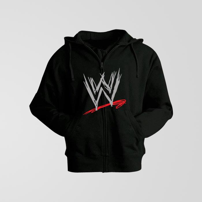 6b3c8a9b0 Plain Black Hoodie With WWE Logo - Thestore.pk