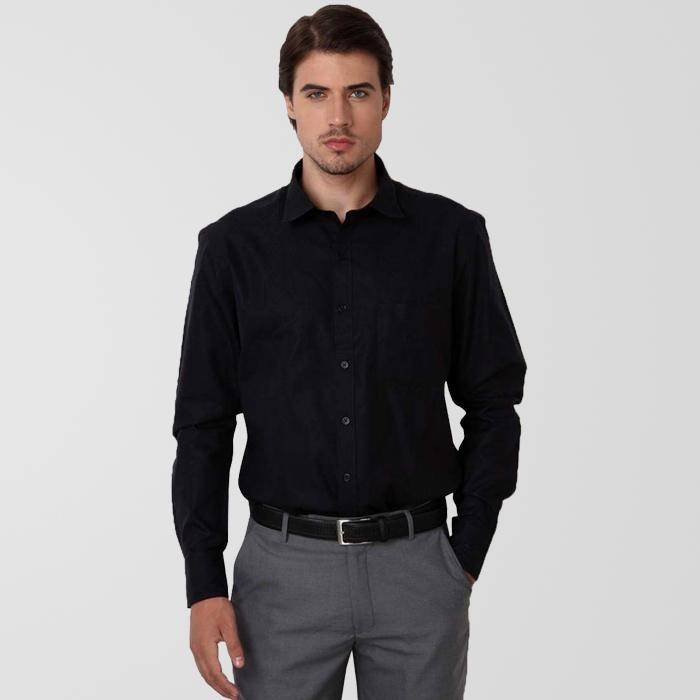 b4d21a7e94 Pure Black Shirt - Shirt N Pants